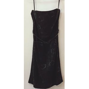 White House/Black Market Strapless Black Dress.